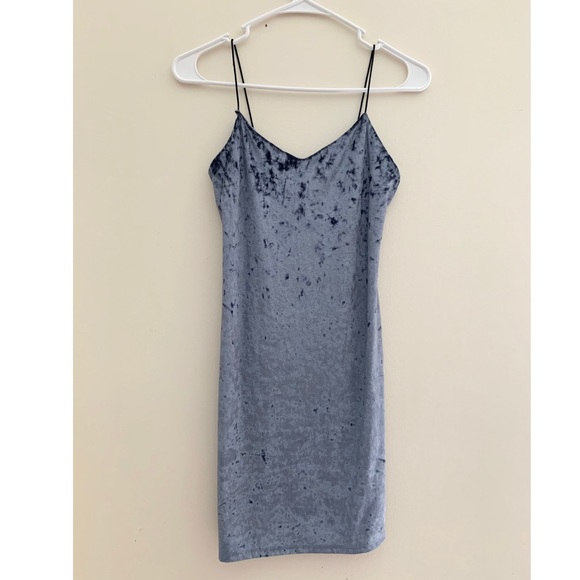 Velvet Mini Slip Dress
